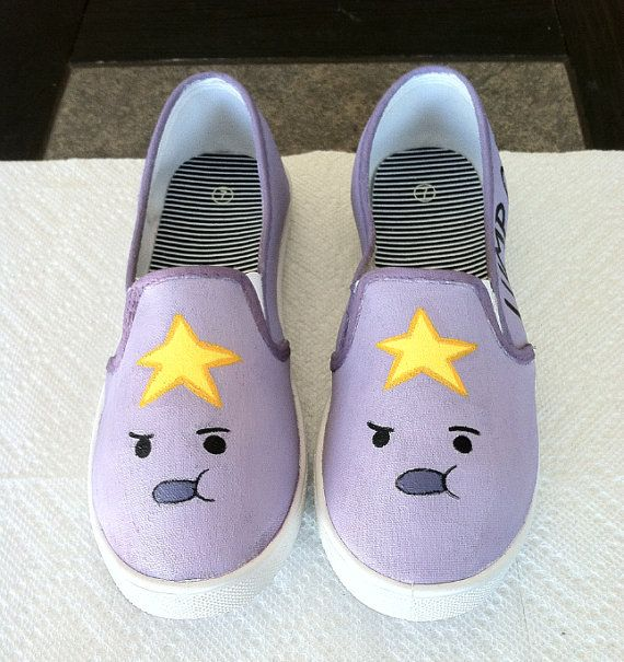 Adventure Time LSP Shoes by SevinSoles on Etsy, $60.00