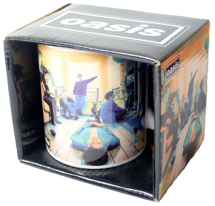 Official Oasis boxed ceramic mug featuring the Definitely Maybe album cover design Rock Off Officially Licensed Merchandise See all Oasis Band Merch