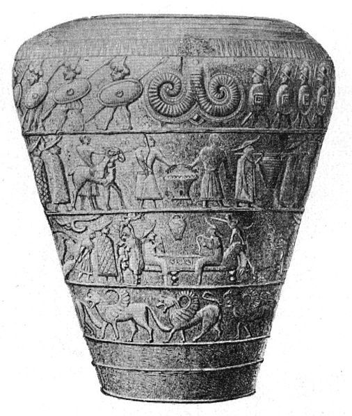 The Vače situla is a bronze pail, 23.8 cm high, which was uncovered in an Iron Age burial mound at Vače in 1882 by a local inhabitant, and was later included in the collections of the National Museum of Slovenia in Ljubljana. Such pails were popular metal vessels in the early Iron Age, and were also excellent media for art and narrativeSitula