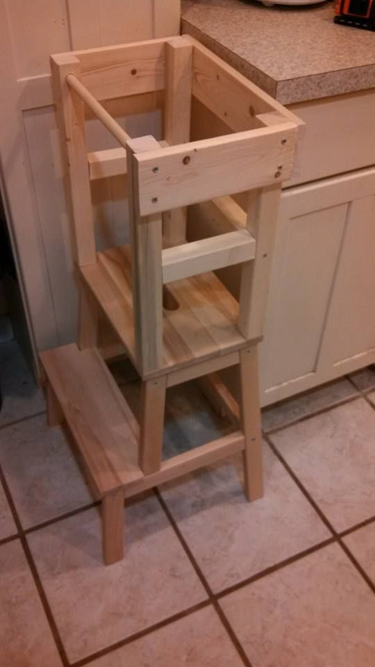 kitchen step stool brass faucets blame crayons...: diy learning tower with materials list ...
