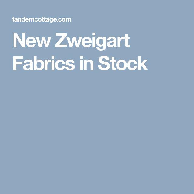 New Zweigart Fabrics in Stock