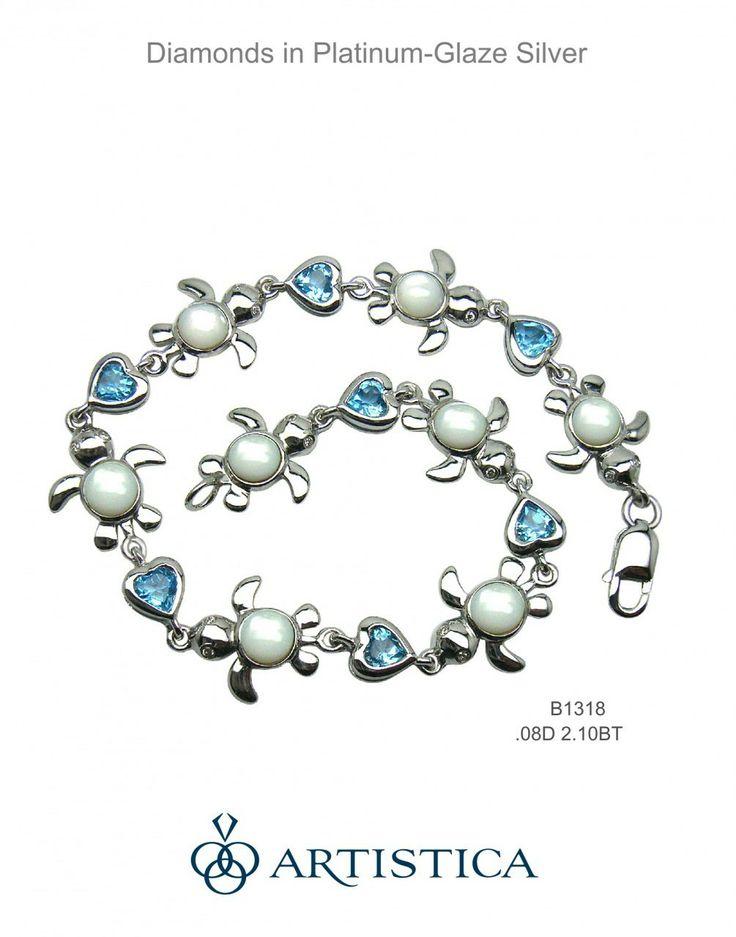 Artistica - Diamond Turtle Bracelet, Cuddles, $389.00 (http://www.artisticajewelry.com/diamond-turtle-bracelet-cuddles/)