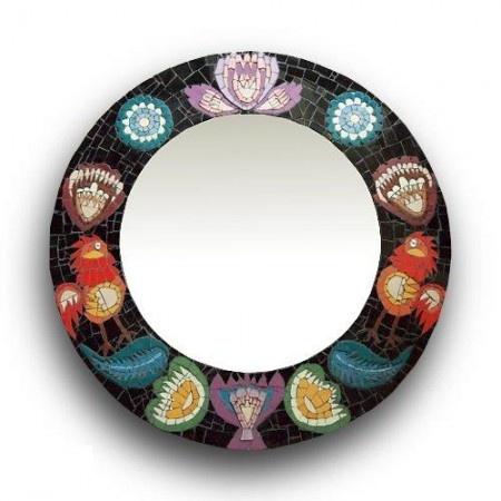 Mosaic folk mirror