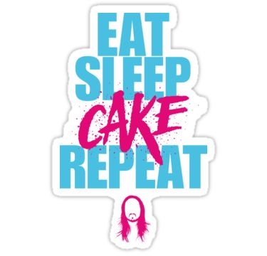 Steve Aoki – eat sleep cake repeat – Blue – Pink • Also buy this artwork on stickers, apparel, kids clothes, and more.