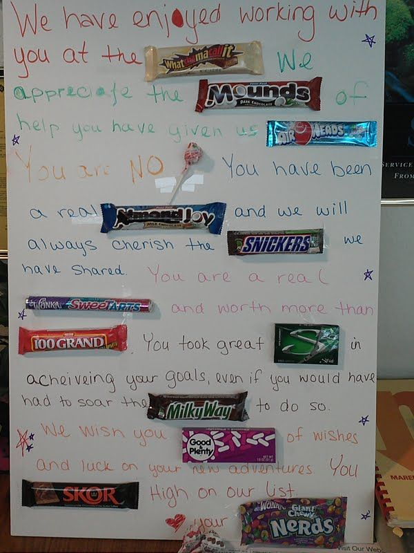 Candy Signs...great frugal gifts!