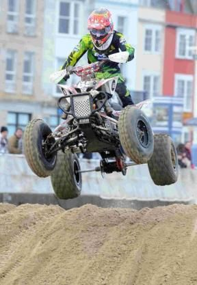 WILD: Quad bike racing on Weymouth beach, February 2013