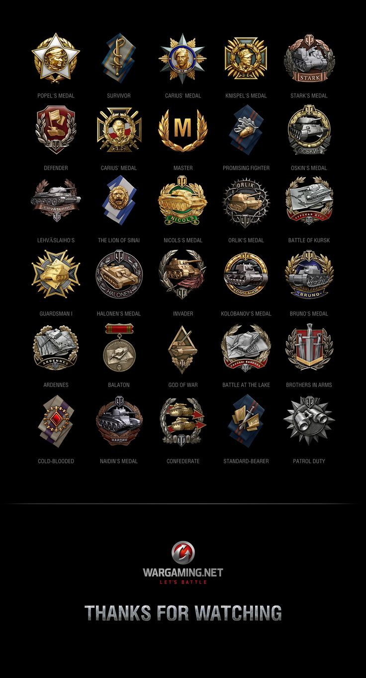 Achievements World of Tanks on Behance