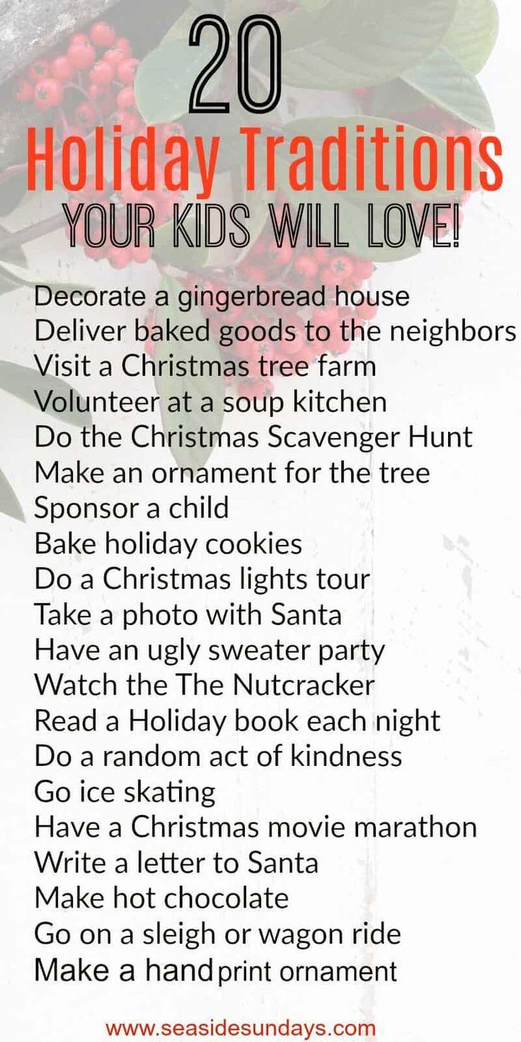 20 Weihnachtstraditionen beginnen dieses Jahr mit Ihrer Familie!