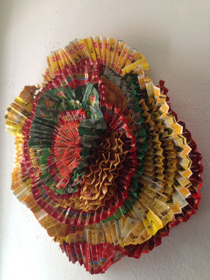 Serpentina Made with tea bag packages