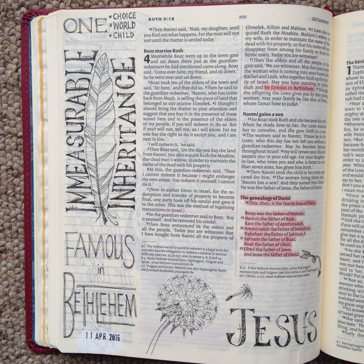 Internal dialog and immeasurable interitance. Ruth 4. Draw Close Blog. Bible art, Bible journaling, Bible study and devotion. Dandelion.