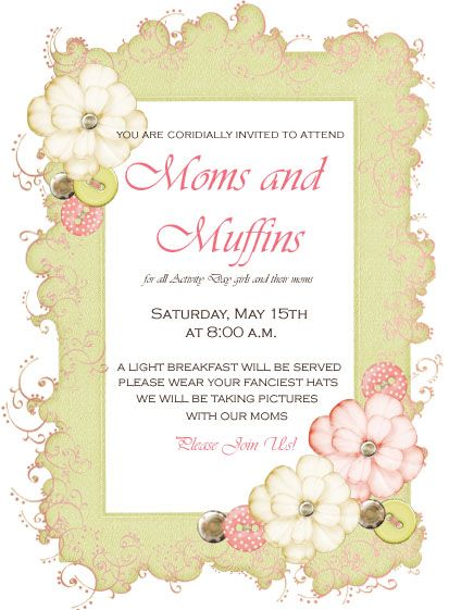 Cute invitation layout.