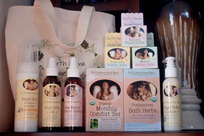 A must have for mom & baby, postpartum! Earth Mama Angel Baby Birth & Baby Kit.