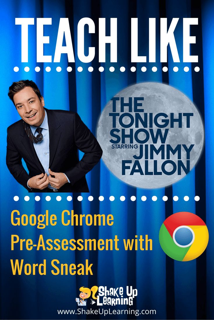 Teach Like The Tonight Show: Google Chrome Word Sneak - It's time to Teach Like The Tonight Show again! I love to watch Jimmy Fallon on The Tonight Show! It always makes me smile, and I love the creative games he plays with the guests. So I will take any excuse to bring a little Fallon fun into the classroom.