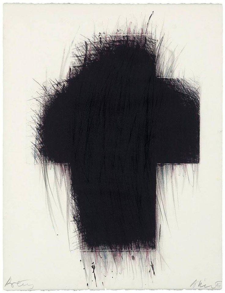 socialclaustrophobia: Arnulf Rainer (Austrian, b. 1929), Kreuz [Cross], 1990.via elegantiaearbiter