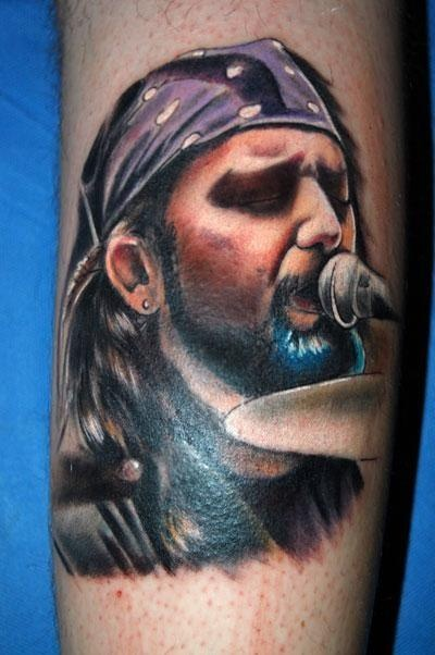 Tattoo of Mike Portnoy... Awesome