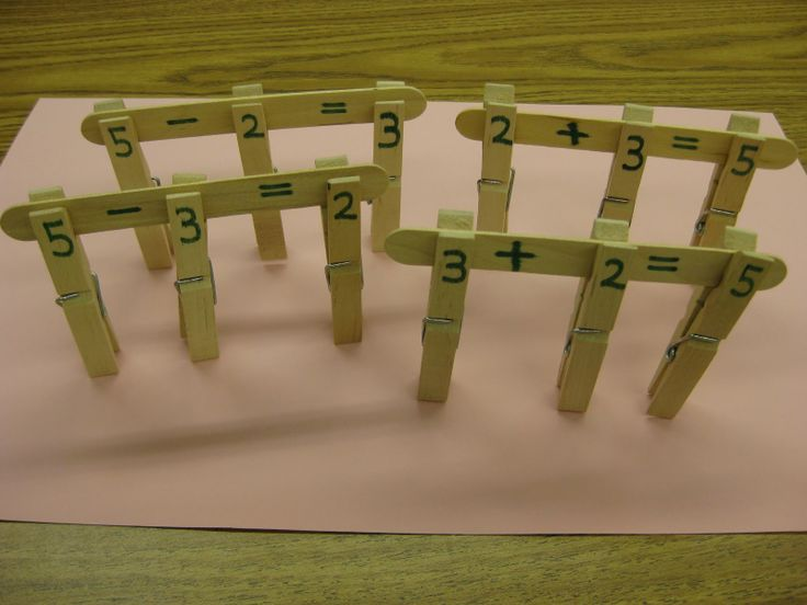 Kids build fact families while also refining important fine motor skills. (Free idea!)