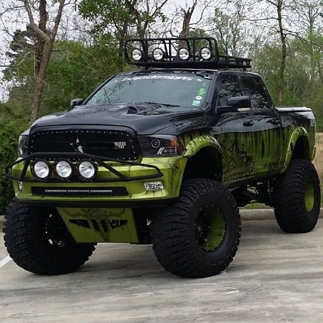 Follow us to see more badass lifted, diesel or gas trucks. Cummins, Duramax or Powestroke -we love all! So, bring on the big Chevy, GMC, Ram, Dodge, Ford or Jeep trucks. I like to see them in the mud, on the dragstrip, or just cruising the street. #ram #Cummins