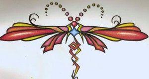 Diseño de corazones en forma de tribal | Tatuajes Book