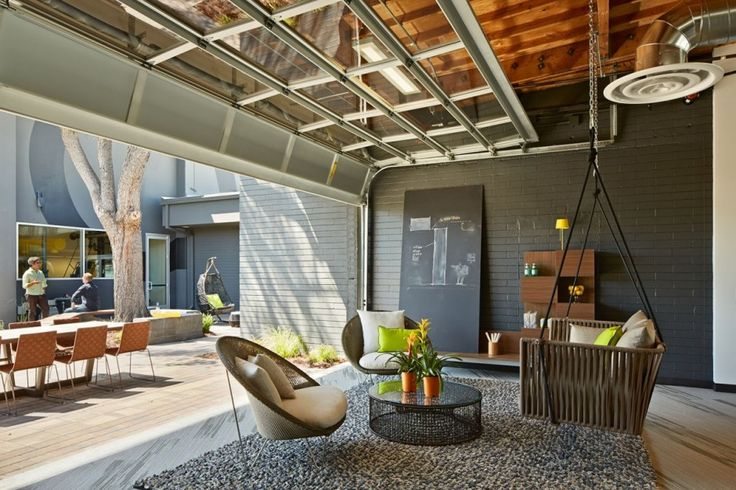 Outdoor Space. Playful and Ambitious One Workplace Project in Santa Clara, California #officedesign #creativeworkspace #design