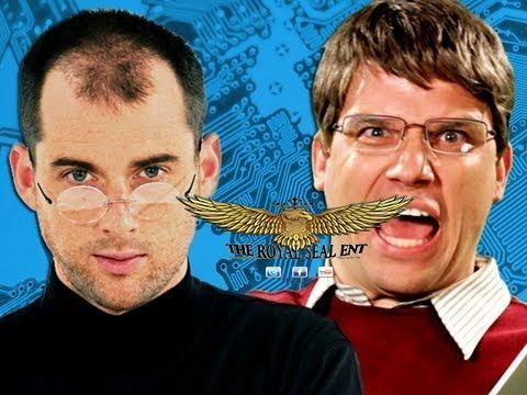 awesome Steve Jobs vs Bill Gates.  Epic Rap Battles of History Season 2.