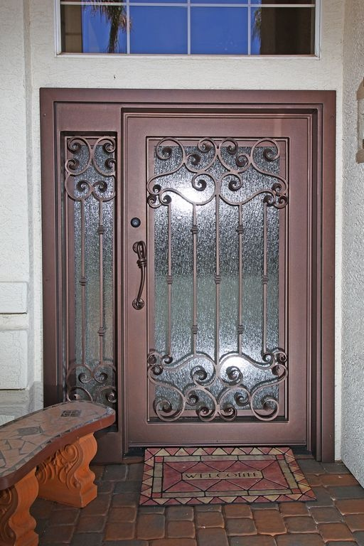Naples iron entry doors firstimpression my first for Entry door with built in screen