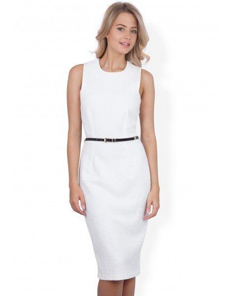 Closet Jacquard Belted Bodycon Dress