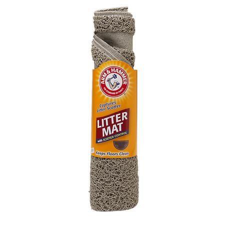 Arm & Hammer Half Circle Litter Mat 23.5in x 14in - 1 ea