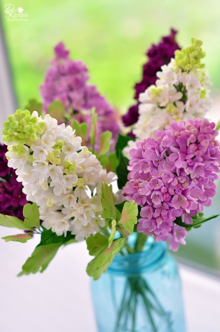 The 175 best clay flowers images on pinterest sugar flowers cold dk designs this arrangement never gets old 6 stems of lilacs and foliage all clay flowerssugar izmirmasajfo
