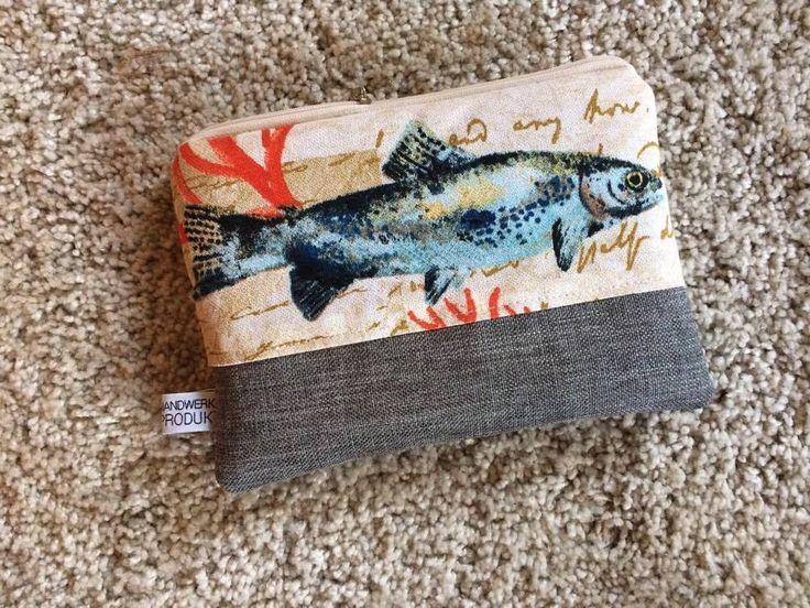 Beauty Case, Kosmetiktasche 18x13 beige braun blau Maritim modern kleine Tasche  | eBay