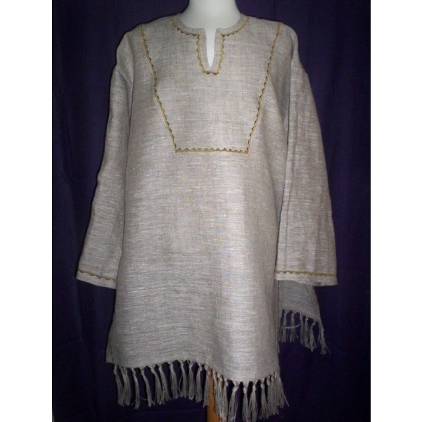 Hebraic Tunic Created From 100 Linen Choose Any Color