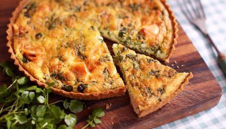 Salmon and watercress tart | Recipe