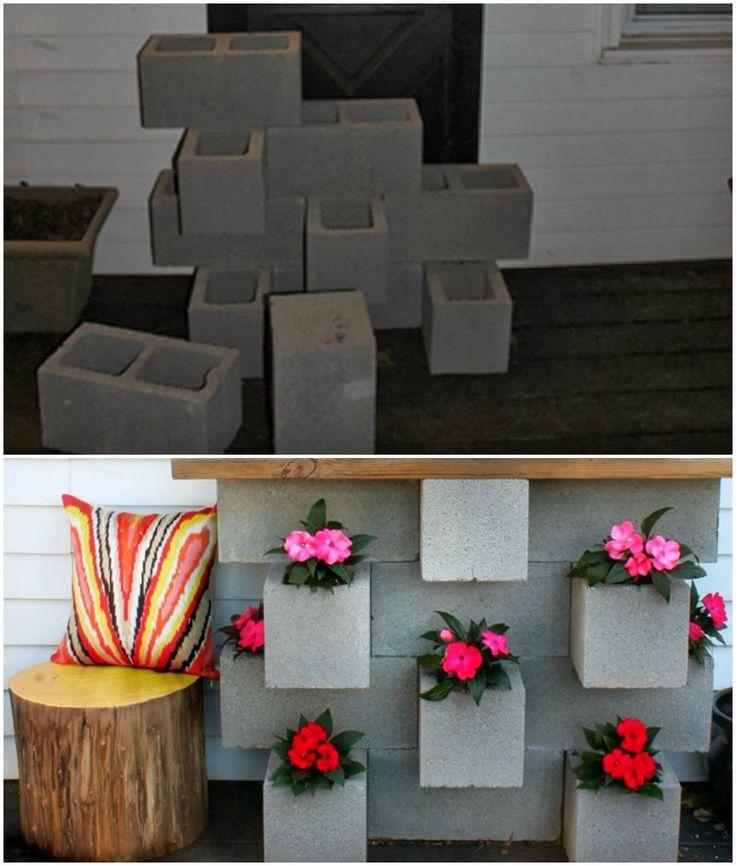 decoracao de jardim gastando pouco:Mais de 1000 ideias sobre Bloco De Cimento no Pinterest