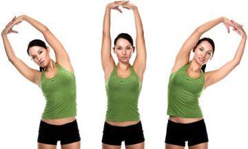 www.get-healthy.nl    Oefening van de dag: Side Bend! (schuine buikspieren). Strek je armen langs je oren en buig naar links terwijl je je buik aangespannen houd. Als je schuine buik goed op spanning staat kom je terug en ga je naar rechts. Herhaal 3x30 maal. Succes!