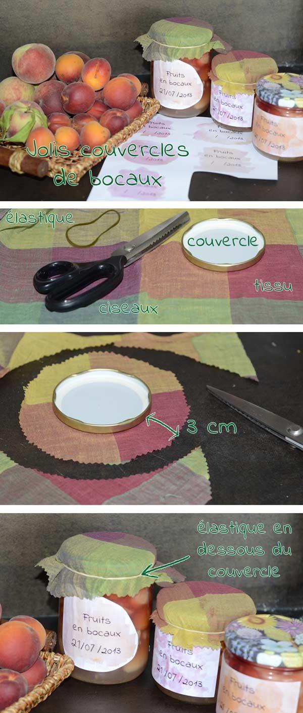 DIY Jolis couvercles pour tes bocaux !