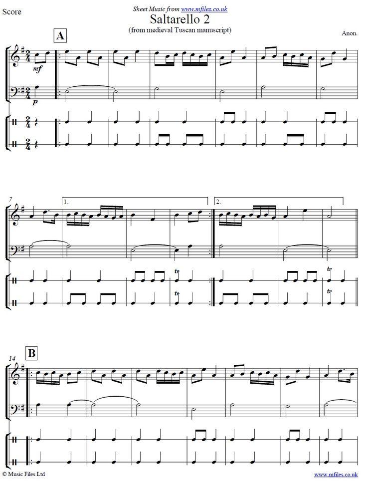 Saltarello 2 Arrangement In 2021 Sheet Music Download Sheet Music Classical Sheet Music