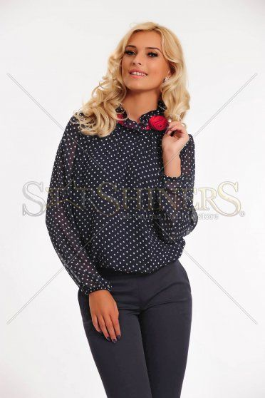 Bluza LaDonna Dots Seduction DarkBlue