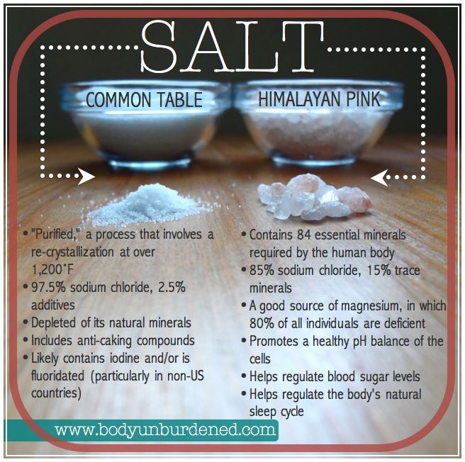 Pink himalayan salt contains 84 minerals that are essential for a healthy body.