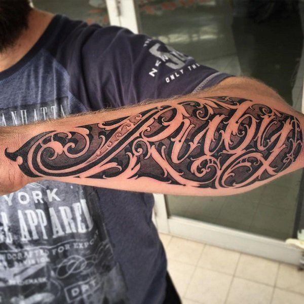 Best 25+ Forearm script tattoo ideas on Pinterest   Calligraphy ...