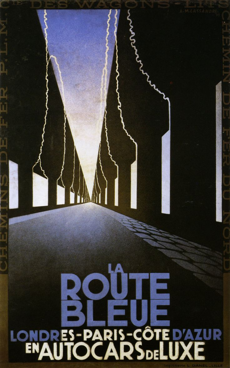 La Route Bleue. Cassandre, 1929
