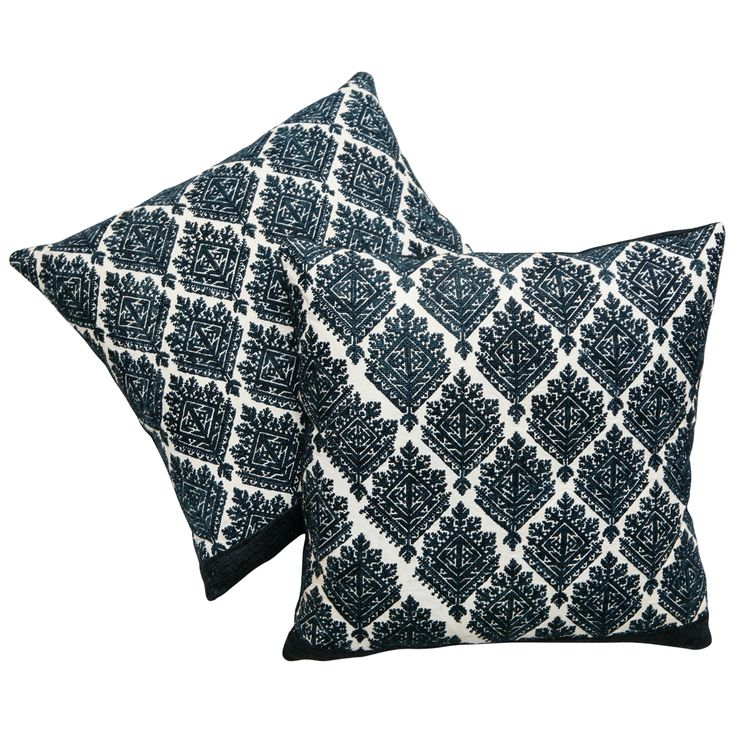 19th C. Fez Moroccan Embroidery Pillows