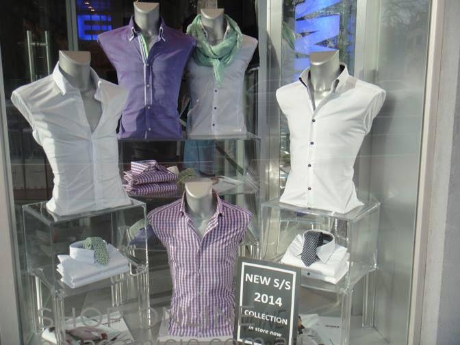 The New Spring/Summer 2014/2015 Men's Display - Oxford St, Paddington, Sydney #Shirt #Summer #Spring #Hot #Fashion #Clothes #Shop #Store #Fashionable #Stylish #Naracamicie