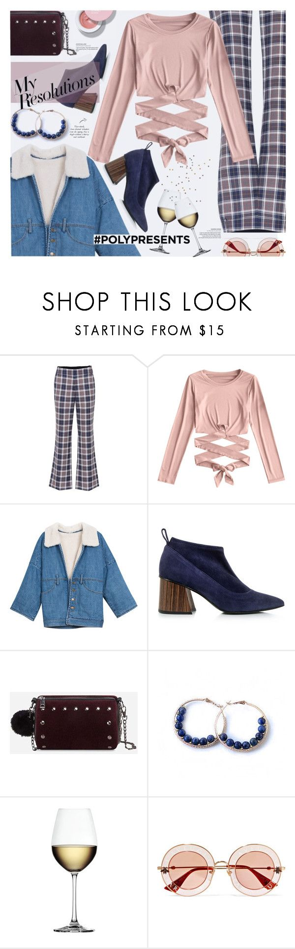 """""""#PolyPresents: New Year's Resolutions"""" by imurzilkina ❤ liked on Polyvore featuring Tory Burch, Eugenia Kim, Nachtmann, Gucci, contestentry and polyPresents"""