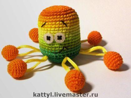 Осминожки - осьминог,игрушка,погремушка,вязанная игрушка,Вязание крючком