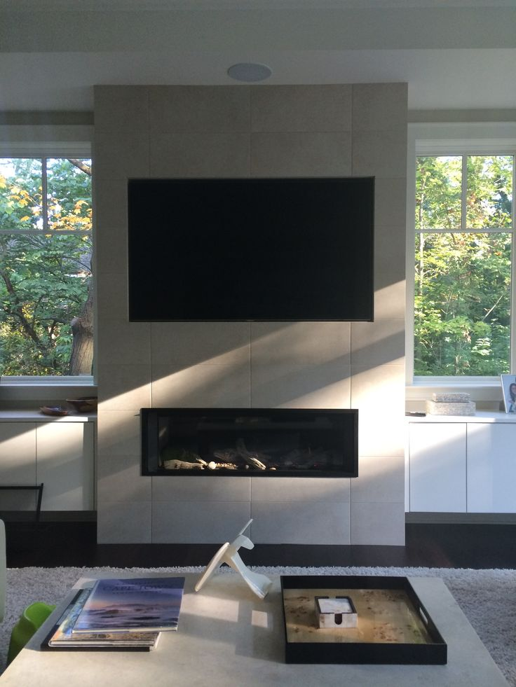 Valor L2 1700 Linear Direct Vent Fireplace Installed On
