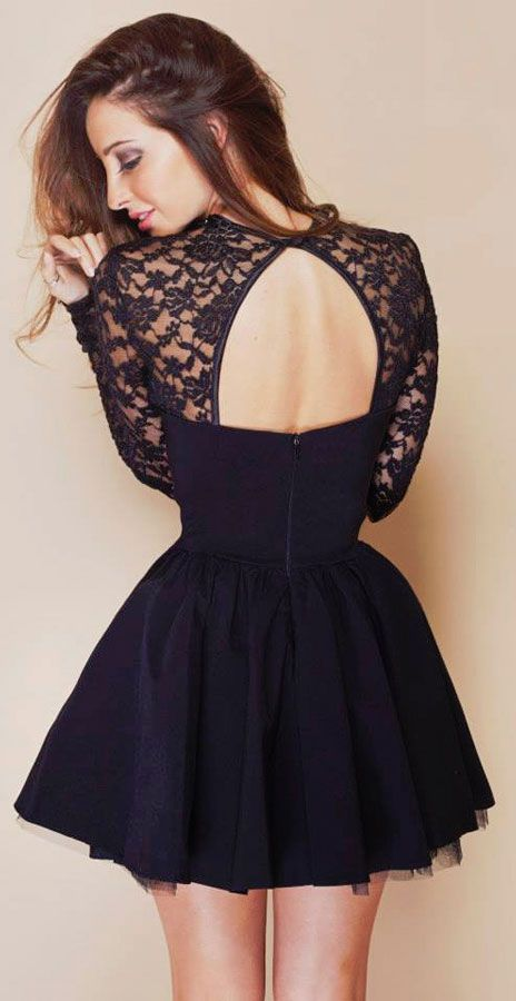 Open back party dress