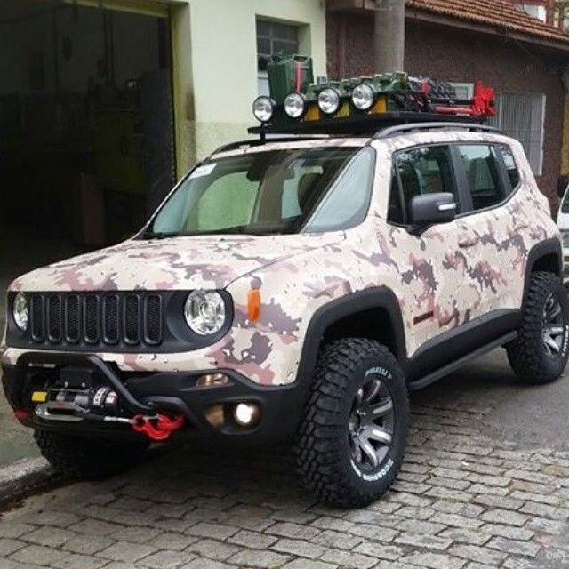 heavily modified jeep renegade car pr0n pinterest. Black Bedroom Furniture Sets. Home Design Ideas