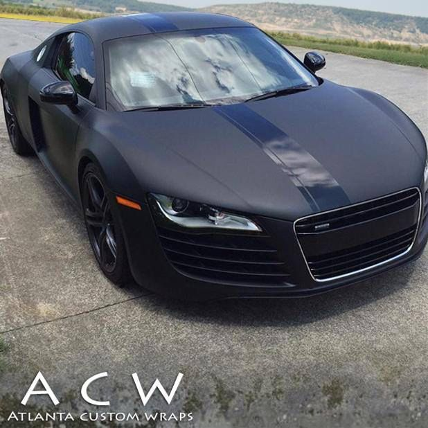 This Audi R8 Is A Beauty ‪wrapped‬ In 3M Matte Deep Black