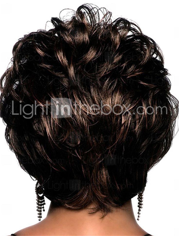 korte bob volledige klap krullend synthetische pruiken voor vrouwen donkerbruin hittebestendige goedkope hair 5409103 2017 – €13.51