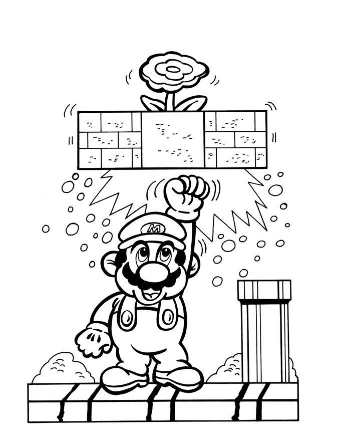 Super Mario Bros Coloring Pages Coloring Books At Retro Reprints The World S Largest Colori In 2020 Super Mario Coloring Pages Mario Coloring Pages Coloring Books
