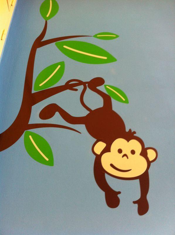Decoracion de selva con vinilos Wall Art en habitacion para nene (foto3)